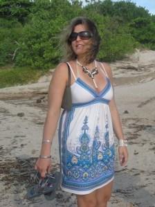Barbara at the beach. July 2010