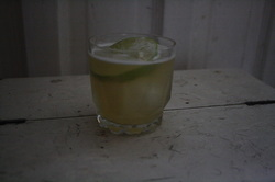 The Green Stick, original Mennonite cocktail designed for you and me by The Drunken Menno.  Click the link for the recipe.