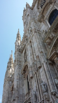 Il Duomo di Milano. Freaking scary. I get it about the art, but this place has a vibe that is TERRIFYING.